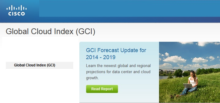 Cisco Global Cloud Index projects traffic to quadruple by 2019